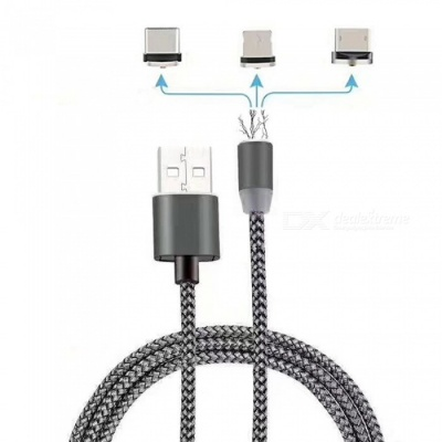 Cwxuan 3-in-1 Micro USB, Type C, 8 Pin Magnetic Charging Cable Kit