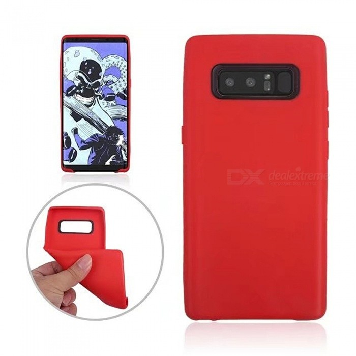 TPU Protective Back Case Cover for Samsung GALAXY Note 8 - RedTPU Cases<br>Form  ColorRedModelN/AQuantity1 DX.PCM.Model.AttributeModel.UnitMaterialTPUShade Of ColorRedCompatible ModelsSamsung GALAXY Note 8DesignSolid ColorStyleBack CasesPacking List1 x Case<br>