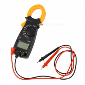 DT3266L Digital Clamp Meter Multimeter Current Clamp Pincers Voltmeter Ammeter, 600A AC DC Ohm Current Voltage Tester