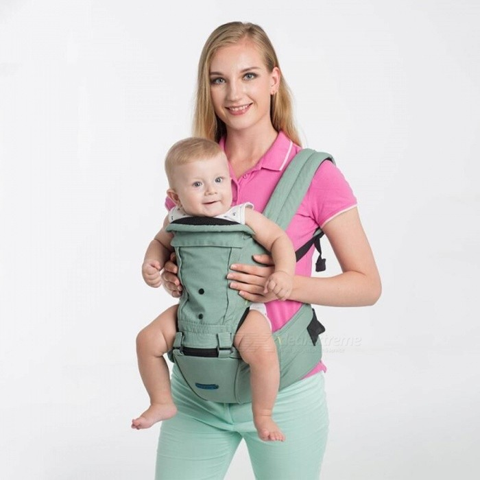 Multifunction Breathable Newborn Baby Infant Carrier Sling - GreenTravel Tools<br>Form  ColorGreenModelBS-123MaterialCottonQuantity1 DX.PCM.Model.AttributeModel.UnitAge0-6 monthsCertificationCE, ROHSPacking List1 x Baby Sling<br>