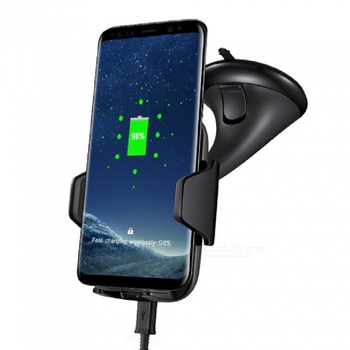 Mindzo F12A Car Mount Fast Charge Qi Wireless Charger for SamsungWireless Chargers<br>Form  ColorBlackPower AdapterWithout Power AdapterModelF12AQuantity1 pieceMaterialPCExecutive StandardQiShade Of ColorBlackTypeChargerCompatible ModelsMost smartphonesTransmition Distance10mm max.Charging Efficiency75%Built-in BatteryNoCable Length100 cmInput9V/1.67A OR 5V/2AOutput interface, output current, output voltage9V/1.2A OR 5V/1ALED IndicatorYesPacking List1 * Charger1 * USB cable 1 * User manual English<br>
