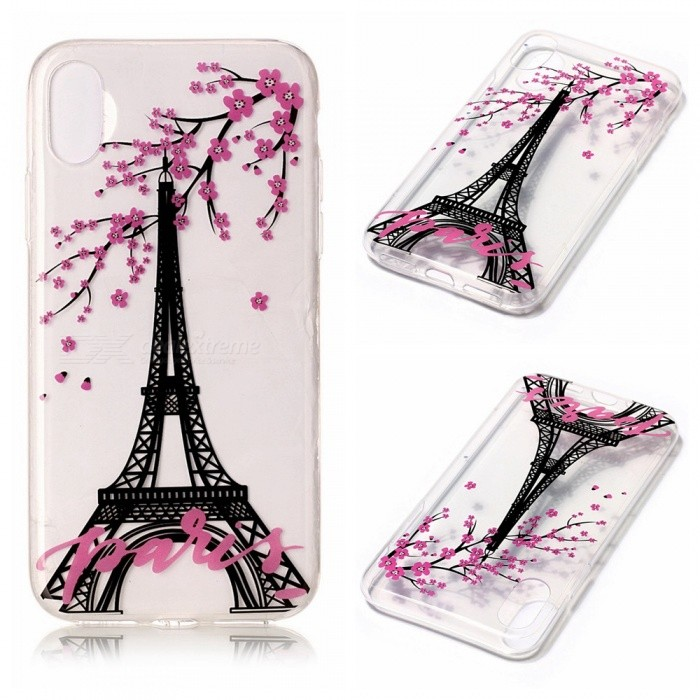 7f715d2b8a Protective TPU Back Case for IPHONE X - Eiffel Tower Pattern - Free  Shipping - DealExtreme