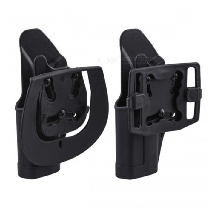 Quick Tactical Holster Right Hand Paddle, Belt Holster for Glock 17/2Gun Holsters<br>Form  ColorBlackQuantity1 pieceMaterialABSPacking List1 x Right Hand Paddle1 x Belt Holster2 x Screws<br>