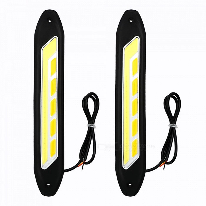 JRLED 2Pcs 6W Warm White, Cold White COB Flexible Car Day Running LampDecorative Lights / Strip<br>Color BINL Shape (Warm White + Cold White)ModelN/AQuantity2 DX.PCM.Model.AttributeModel.UnitMaterialSilicone + aluminum alloyForm  ColorBlack + White + Multi-ColoredEmitter TypeOthers,COBChip BrandEpistarTotal Emitters10Color Temperature3000K+7000 DX.PCM.Model.AttributeModel.UnitWavelengthN/A DX.PCM.Model.AttributeModel.UnitRate VoltageDC 12VPower6WTheoretical Lumens700 DX.PCM.Model.AttributeModel.UnitActual Lumens600 DX.PCM.Model.AttributeModel.UnitWater-proofIP65ApplicationDaytime running light,Others,Chassis lightsCertificationCE ROHSPacking List2 x COB LEDs2 x Screws2 x Stickers for fixing<br>
