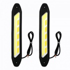 JRLED 2Pcs 6W Warm White, Cold White COB Flexible Car Day Running Lamp