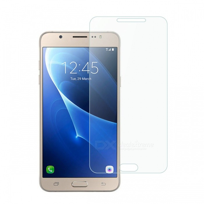 Dayspirit Tempered Glass Screen Protector for Samsung Galaxy J7 (2016)Screen Protectors<br>Form  ColorTransparentScreen TypeGlossyModelN/AMaterialTempered glassQuantity1 pieceCompatible ModelsSamsung Galaxy J7(2016)Features2.5D,Tempered glassPacking List1 x Tempered glass screen protector1 x Dust cleaning film 1 x Alcohol prep pad<br>