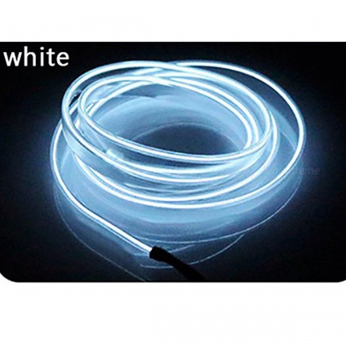Universal 5M Car Stylish Flexible Neon Light EL Wire - WhiteOther Interior<br>Form  ColorWhiteModel-Quantity1 DX.PCM.Model.AttributeModel.UnitMaterialPVCPacking List1 x 5 Meters Wire1 x 12V Inverter<br>