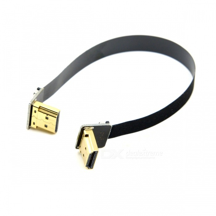 CY HD-206-UP-0.5M CYFPV Dubbel HDMI-typ A Manlig till Male HDTV FPC-kabel