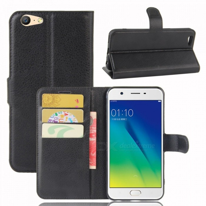 Lichee Pattern Protective Case for OPPO A57 Currenc OPPO A39 - BlackLeather Cases<br>Form  ColorBlackModelN/AMaterialPUQuantity1 DX.PCM.Model.AttributeModel.UnitShade Of ColorBlackCompatible ModelsOPPO A57 Currenc OPPO A39FeaturesAnti-slip,Dust-proof,Shock-proof,Abrasion resistance,Easy-to-remove,Holder functionPacking List1 x Case<br>