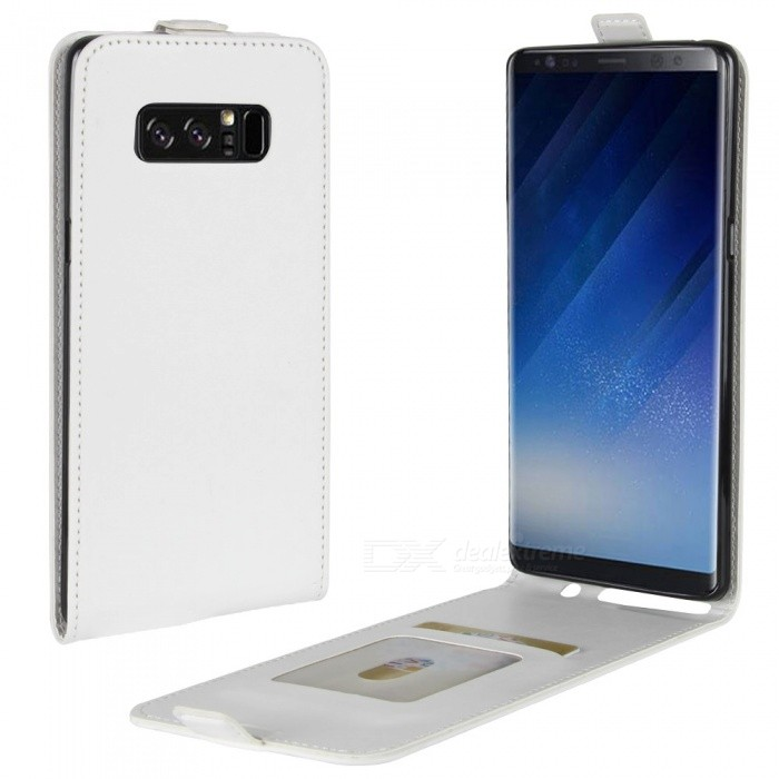 Up-Down Flip Open Protective PU Case for Samsung Galaxy NOTE8 - WhiteLeather Cases<br>Form  ColorWhiteModelN/AMaterialPUQuantity1 DX.PCM.Model.AttributeModel.UnitShade Of ColorWhiteCompatible ModelsSamsung Galaxy NOTE8FeaturesAnti-slip,Dust-proof,Shock-proofPacking List1 x Case<br>
