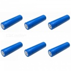 ZHAOYAO 6Pcs LC 3.7V Blue 18650 3000mAh Rechargeable Lithium Battery