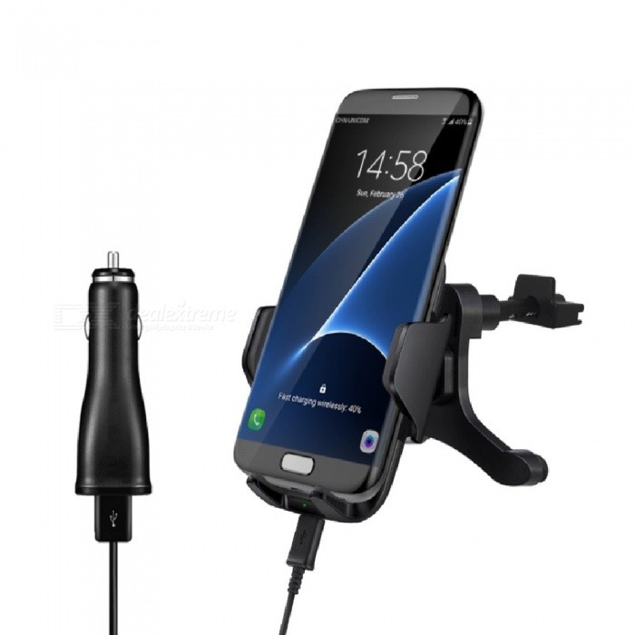 Mindzo Car Mount Fast Wireless Charger - BlackWireless Chargers<br>Form  ColorBlackPower AdapterWithout Power AdapterModelF12DQuantity1 DX.PCM.Model.AttributeModel.UnitMaterialPCExecutive StandardQiShade Of ColorBlackTypeOthers,with car chargerCompatible Modelsall smartphonesTransmition Distance10mm maxCharging Efficiency75%Built-in BatteryNoCable Length100 DX.PCM.Model.AttributeModel.UnitInput9V/1.67A OR 5V/2AOutput interface, output current, output voltage9V/1.2A OR 5V/1ALED IndicatorYesPacking List1 x Charger1 x USB cable1 x User manual 1 x Car charger<br>
