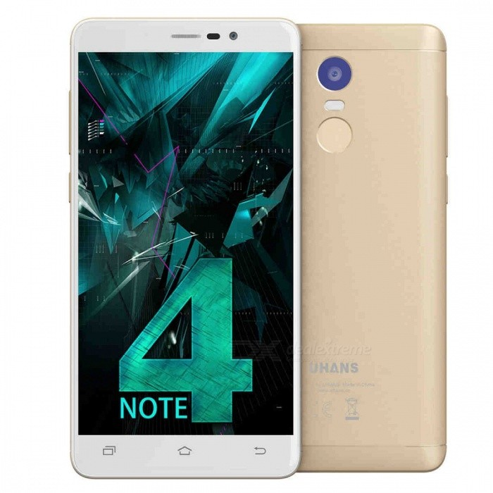 UHANS Note 4 Android 7.0 5.5 HD 4G Phone 3GB RAM 32GB ROM - GoldAndroid Phones<br>Form  ColorGoldenRAM3GBROM32GBBrandOthers,UHANSModelNote 4Quantity1 DX.PCM.Model.AttributeModel.UnitMaterialAlumininum AlloyShade Of ColorGoldTypeBrand NewPower AdapterEU PlugHousing Case MaterialAlumininum AlloyTime of Release2017/8/10Network Type2G,3G,4GBand Details4G: FDD B1/3/7/8/20; 3G: WCDMA 900/ 2100; 2G:  GSM 850/900/1800/1900MHzData TransferGPRS,HSDPA,EDGE,LTE,HSUPAWLAN Wi-Fi 802.11 a,b,g,nSIM Card TypeNano SIMSIM Card Quantity2Network StandbyDual Network StandbyGPSYesNFCNoInfrared PortNoBluetooth VersionBluetooth V4.0Operating SystemAndroid 7.xCPU ProcessorMT6737 64-BitCPU Core QuantityQuad-CoreGPUARM Mali-T720 GPULanguageSimplified Chinese, Traditional Chinese, Malay, Indonesian, Czech, Dansk, Deutsch, English, Spanish, French, Croatian,Italian, Hungarian, Polish, Portuguese, Roman, Slovak, Vietnamese, Bulgarian, Russian, Ukrainian, Arabic, Hindi, Bengalese, ThaiAvailable Memory28GBMemory CardMicro SDMax. Expansion Supported64GBSize Range5.5 inches &amp; OverTouch Screen TypeYesScreen Resolution1280*720Multitouch10Screen Size ( inches)5.5Screen Edge2.5D Curved EdgeCamera Pixel13.0MPFront Camera Pixels5.0 DX.PCM.Model.AttributeModel.UnitVideo Recording Resolution720PFlashYesAuto FocusyesTouch FocusYesOther Camera FunctionsHDR, Face Dectection, Location Mark, FocusTalk Time38 DX.PCM.Model.AttributeModel.UnitStandby Time384 DX.PCM.Model.AttributeModel.UnitBattery Capacity4000 DX.PCM.Model.AttributeModel.UnitBattery ModeNon-removablefeaturesWi-Fi,GPS,FM,Bluetooth,OTGSensorG-sensor,Proximity,Gesture,Fingerprint authentication sensorWaterproof LevelIPX0 (Not Protected)Dust-proof LevelNoShock-proofNoI/O InterfaceMicro USB,3.5mm,OTGSoftwareUHANS_Note_4_0731.V3.03Format Supported3GP, MP3,MP4JAVANoTV TunerNoRadio TunerFMWireless ChargingNoOther FeaturesUHANS_Note_4_0731.V3.03Reference Websites== Will this mobile phone work with a certain mobile carrier of yours? ==CertificationCE/RoHs