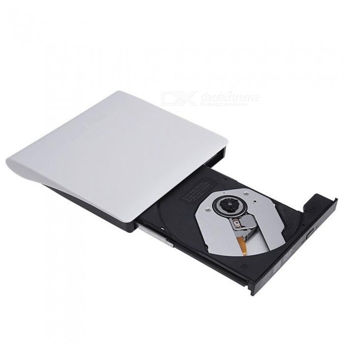 Maikou Aluminum Alloy Drawing USB 3.0 External DVD Drive BurnerCD/DVD Drives<br>Form  ColorWhiteQuantity1 pieceMaterialAluminum alloy + pvcInterfaceUSB 3.0StyleExternalMAX DVD Write Speed8XMAX DVD Read Speed8XMAX CD Write Speed24XMAX CD Read Speed24XOther FeaturesFunction parameter: Recording speed: DVD-R: 8X; DVD-RW: 4X; DVD + R: 8X; DVD + RW: 4X; DVD + DL (D9): 4X; DVD-DL: 4X; CD-R: 24X; CD-RW: 16X Read speed: DVD-R: 8X; DVD-RW :: 6X; DVD + R: 8X; DVD + RW: 6X; CD-RW: 16X; CD-ROM: 24X; read DVD-RAMPacking List1 x USB3.0 CD burner (95cm cable)<br>