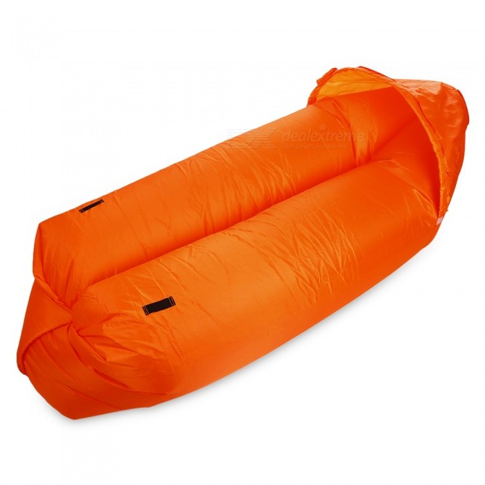 Multi-Function Outdoor Inflatable Sofa with Sun Shade - OrangeSleeping Bags<br>Form  ColorOrangeSizeOthersQuantity1 DX.PCM.Model.AttributeModel.UnitMaterialNylonPacking List1 x Inflatable Bed1 x Sun Shade1 x Storage Bag<br>