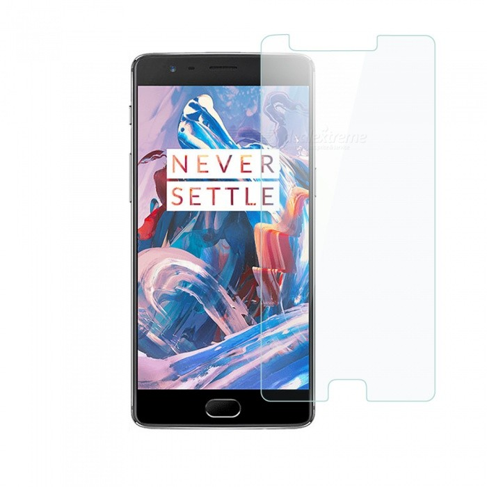 Dayspirit Tempered Glass Screen Protector for OnePlus 3, 3TScreen Protectors<br>Form  ColorTransparentScreen TypeGlossyModelN/AMaterialTempered glassQuantity1 DX.PCM.Model.AttributeModel.UnitCompatible ModelsOnePlus 3,3TFeatures2.5D,Tempered glassPacking List1 x Tempered glass screen protector1 x Dust cleaning film 1 x Alcohol prep pad<br>