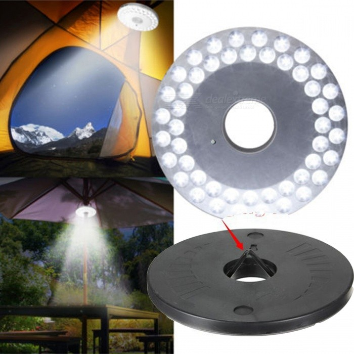 48-LED 3-Mode Portable Lantern, UFO Umbrella Light LampOutdoor Lantern<br>Form  ColorBlack + SilverModelMLDE48Quantity1 DX.PCM.Model.AttributeModel.UnitMaterialABSBest UseFamily &amp; car camping,Backpacking,Camping,Mountaineering,TravelPacking List1 x 48-LED Camping Light<br>