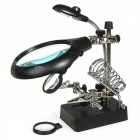 5-LED Hand Magnifier with Soldering Stand for Welding