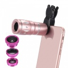 10x zoom telescope + fish eye + wide angle + macro lens for phones