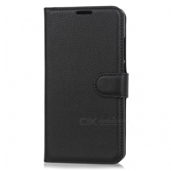 Lychee Pattern Flip-Open PU Case for Doogee MIX - BlackLeather Cases<br>Form  ColorBlackModelN/AMaterialPUQuantity1 DX.PCM.Model.AttributeModel.UnitShade Of ColorBlackCompatible ModelsDoogee MIXFeaturesAnti-slip,Dust-proof,Shock-proof,Abrasion resistance,Holder functionPacking List1 x Case<br>