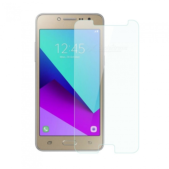 Dayspirit Tempered Glass Screen Protector for Samsung Galaxy J2 PrimeScreen Protectors<br>Form  ColorTransparentScreen TypeGlossyModelN/AMaterialTempered glassQuantity1 DX.PCM.Model.AttributeModel.UnitCompatible ModelsSamsung Galaxy J2 PrimeFeaturesTempered glassPacking List1 x Tempered glass screen protector1 x Dust cleaning film 1 x Alcohol prep pad<br>
