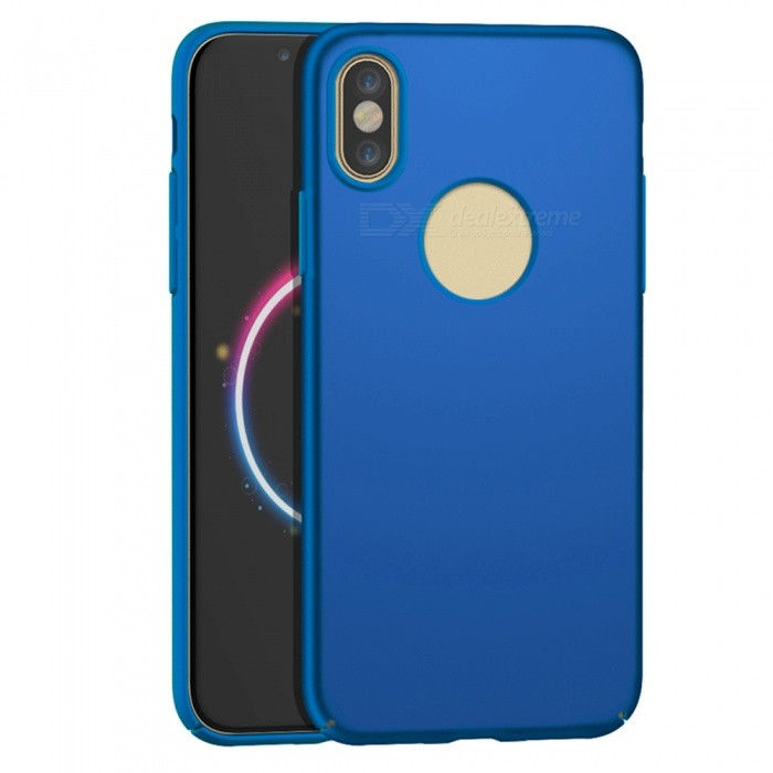 Naxtop PC Hard Protective Back Case for Apple IPHONE X - BluePlastic Cases<br>Form  ColorBlueQuantity1 DX.PCM.Model.AttributeModel.UnitMaterialPCCompatible ModelsiPhone X,IPHONE XDesignSolid ColorStyleBack CasesPacking List1 x Case<br>