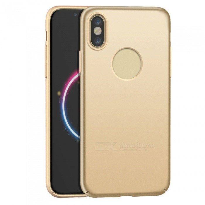 Naxtop PC Hard Protective Back Case for Apple IPHONE X - GoldenPlastic Cases<br>Form  ColorGoldenModelN/AQuantity1 pieceMaterialPCCompatible ModelsiPhone X,Apple IPHONE XDesignSolid ColorStyleBack CasesPacking List1 x Case<br>