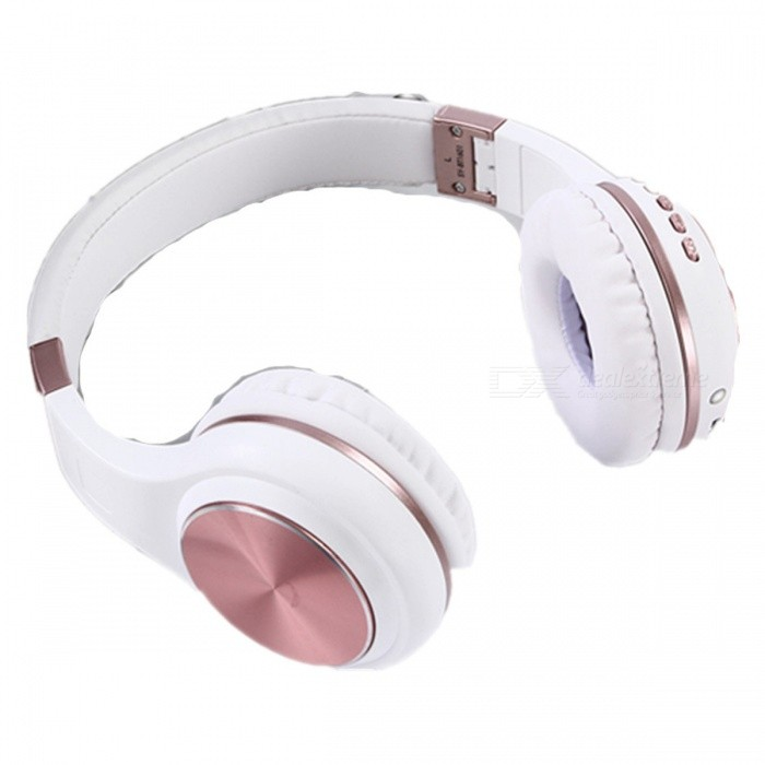 Bluetooth earphones rose gold wireless - earphones wireless kitty light