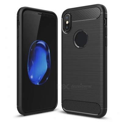 Dayspirit Wire Drawing Carbon Fiber TPU Case for IPHONE X