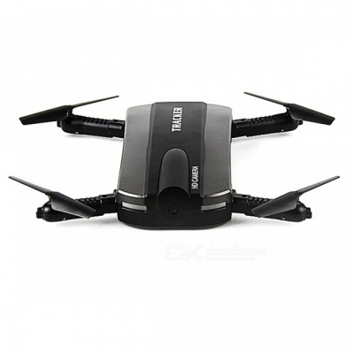 JXD 523 Foldable Selfie RC Drone Helicopter Tracker - Black
