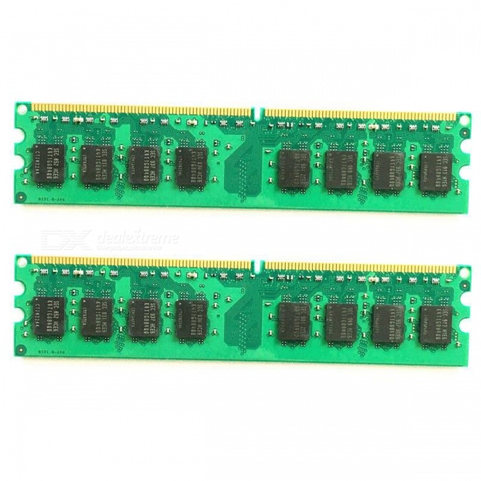 4GB (2PCSx2GB) DDR2 2GB RAM 800MHz PC2-6400U Desktop MemoryForm  Color2G 800MHz for AMDQuantity1 setMaterialPCBPacking List2 x 2G 800MHz Desktop Memory for AMD<br>