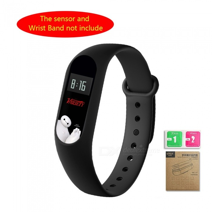LOPBE HD Protective  Film for Xiaomi Miband 2 Bracelet - Baymax (R)Wearable Device Accessories<br>Form  ColorBaymax (R)Quantity1 pieceMaterialABSPacking List1 x Colour film1 x Wet &amp; Dry wipes with corrugated box<br>