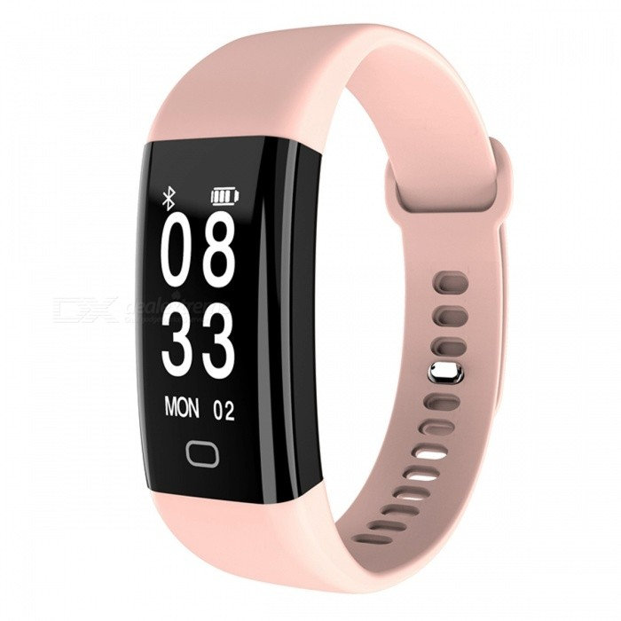 F09HR Smart Bracelet with Heart Rate Blood Pressure Monitor - PinkSmart Bracelets<br>Form  ColorPink + BlackQuantity1 setMaterialABSShade Of ColorPinkWater-proofIP68Bluetooth VersionBluetooth V4.0Touch Screen TypeYesCompatible OSAndroid 4.4&amp; above ,iOS 7.1 &amp; aboveBattery Capacity70 mAhBattery TypeLi-polymer batteryStandby Time5-7 daysPacking List1 x Wristband1 x Manual<br>