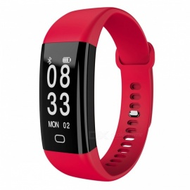 F09HR Smart Bracelet with Heart Rate Blood Pressure Monitor - Red