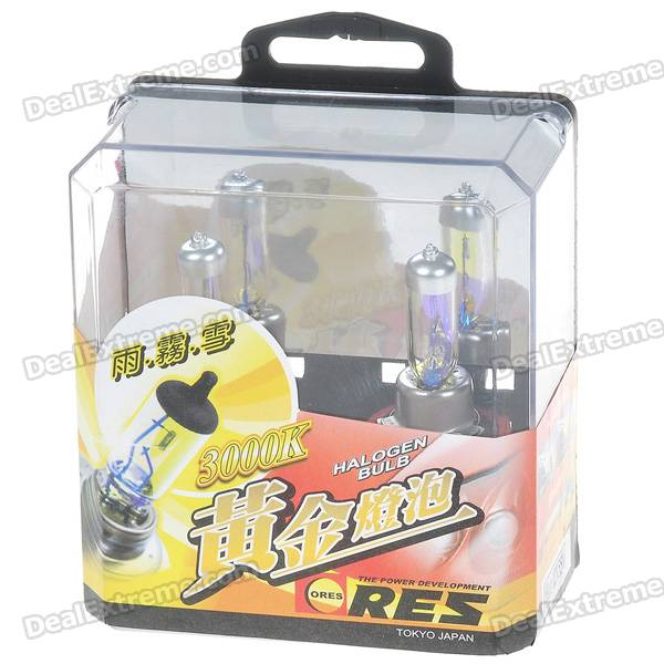 H11 55W 3000K Super Bright Car Yellow Light Bulbs (Pair/DC 12V)