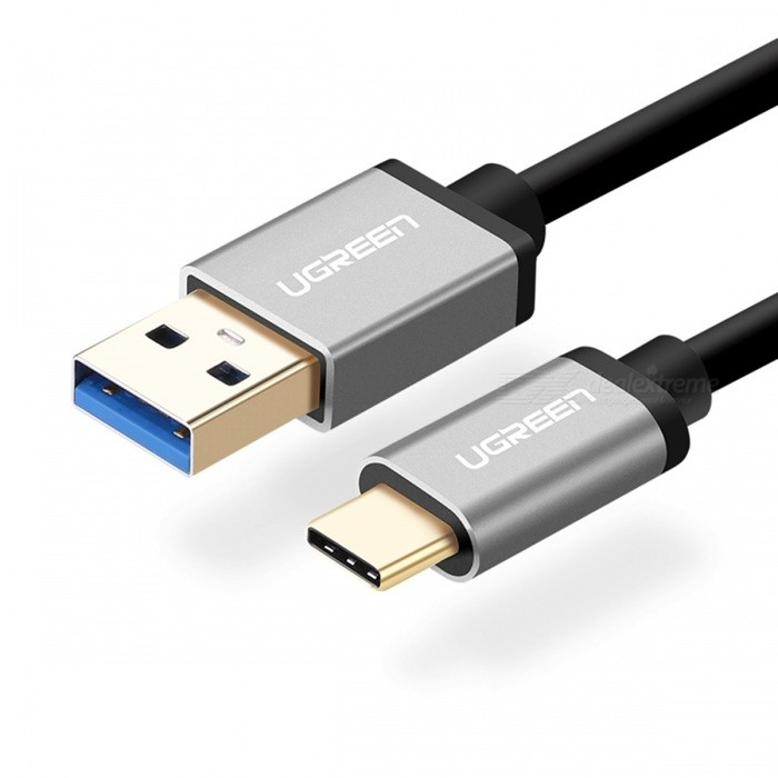 Ugreen USB 3.0 to Type C Charging Cable - Black (1m)Cables<br>Form  ColorBlack (1m)MaterialABSQuantity1 DX.PCM.Model.AttributeModel.UnitCompatible ModelsAll devices with Type-C portCable Length100 DX.PCM.Model.AttributeModel.UnitConnectorUSB 3.0, USB Type-CTransmission Rate5GbpsPacking List1 x Cable<br>