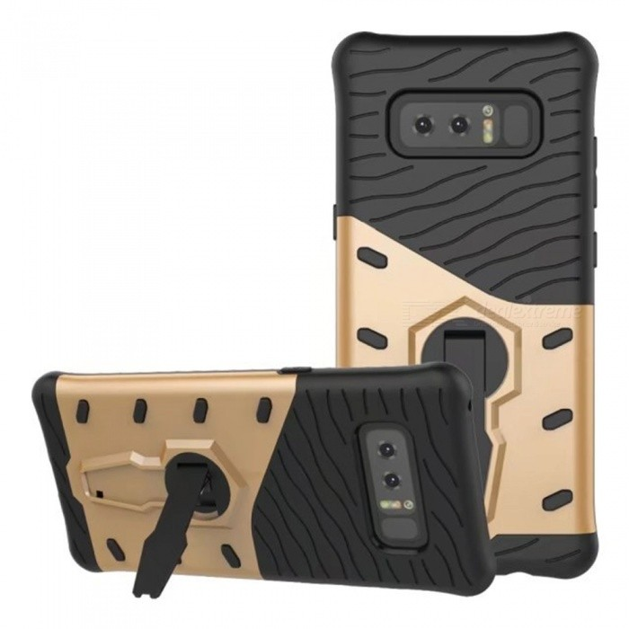 Naxtop TPU Bumper PC Cover Kickstand Case for Samsung Galaxy Note8Plastic Cases<br>Form  ColorGoldenModelN/AMaterialTPU+PCQuantity1 DX.PCM.Model.AttributeModel.UnitShade Of ColorGoldFeaturesAnti-slip,Dust-proof,Shock-proof,Abrasion resistance,Holder functionCompatible ModelsSamsung Galaxy Note8Packing List1 x Case<br>