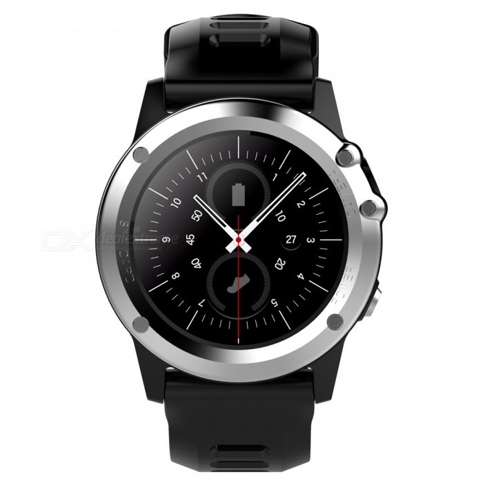 H1 MTK6572 IP68 GPS Wi-Fi 3G Camera Bluetooth Smart Watch - SilverSmart Watches<br>Form  ColorSilverModelH1Quantity1 DX.PCM.Model.AttributeModel.UnitMaterialStainless steel + TPUShade Of ColorSilverCPU ProcessorMTK6572Screen Size1.39 DX.PCM.Model.AttributeModel.UnitScreen Resolution400*400Network Type2G,3GCellularWCDMA,GSMSIM Card TypeNano SIMBluetooth VersionBluetooth V4.0Operating SystemAndroid 4.4Compatible OSAndroid, IOSLanguageSimplified Chinese, Traditional Chinese, English, German, Spanish, Italian, French, Portuguese-Portugal, Portuguese-Brazilian, Russian, Indonesian, Malay, Polish,<br>Vietnamese, Hebrew, Arabic, Persian, Thai,<br>Burmese, Turkish, Japanese, KoreanWristband Length25.5 DX.PCM.Model.AttributeModel.UnitWater-proofIP68Battery ModeReplacementBattery TypeLi-ion batteryBattery Capacity450 DX.PCM.Model.AttributeModel.UnitStandby Time5-7 DX.PCM.Model.AttributeModel.UnitPacking List1 x Smart Watch1 x Charging Cable1 x Manual<br>