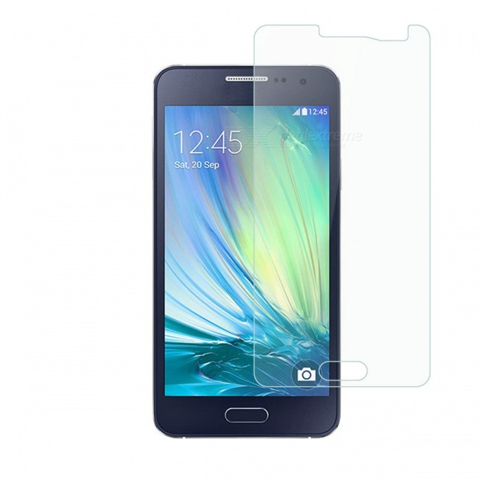 Dayspirit Tempered Glass Screen Protector for Samsung Galaxy A3Screen Protectors<br>Form  ColorTransparentScreen TypeGlossyModelN/AMaterialTempered glassQuantity1 pieceCompatible ModelsSamsung Galaxy A3FeaturesTempered glassPacking List1 x Tempered glass screen protector1 x Dust cleaning film 1 x Alcohol prep pad<br>