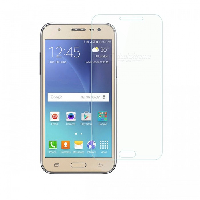 Dayspirit Tempered Glass Screen Protector for Samsung Galaxy J5Screen Protectors<br>Form  ColorTransparentScreen TypeGlossyModelN/AMaterialTempered glassQuantity1 pieceCompatible ModelsSamsung Galaxy J5FeaturesTempered glassPacking List1 x Tempered glass screen protector1 x Dust cleaning film 1 x Alcohol prep pad<br>