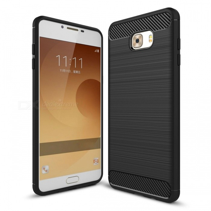 Dayspirit Wire Drawing Carbon Fiber TPU Case for Samsung Galaxy C9 ProTPU Cases<br>Form  ColorBlackModelN/AMaterialTPUQuantity1 pieceShade Of ColorBlackCompatible ModelsSamsung Galaxy C9 ProPacking List1 x Case<br>