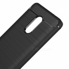 Dayspirit Wire Drawing Carbon Fiber TPU Väska till Xiaomi Redmi Note 4X