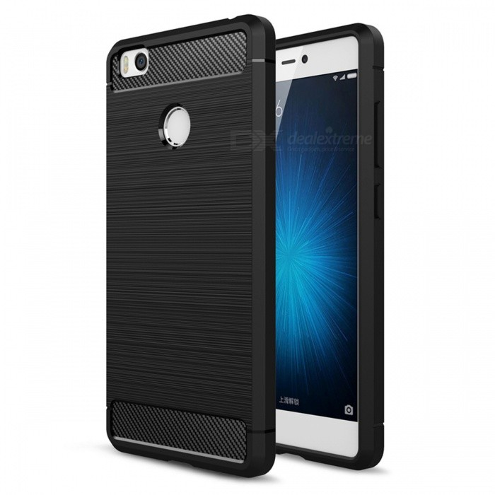 Dayspirit Wire Drawing Carbon Fiber TPU Case for Xiaomi Mi 4sTPU Cases<br>Form  ColorBlackModelN/AMaterialTPUQuantity1 pieceShade Of ColorBlackCompatible ModelsXiaomi Mi 4sPacking List1 x Case<br>