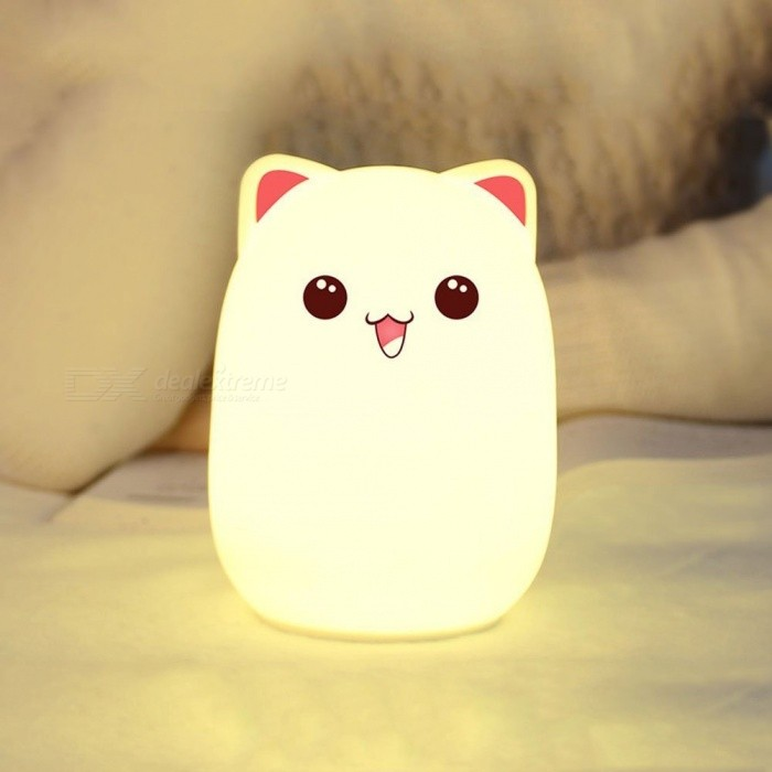 YWXLight USB Charge Touch Sensing Silicone Desk Night Lamp - PinkLED Nightlights<br>Form  ColorPinkMaterialSilica gelQuantity1 DX.PCM.Model.AttributeModel.UnitPower3WRated VoltageOthers,DC 5 DX.PCM.Model.AttributeModel.UnitConnector TypeOthers,USBColor BINMulti-colorChip BrandOthersEmitter TypeOthers,2835 SMD LEDTotal Emitters7Theoretical Lumens300-400 DX.PCM.Model.AttributeModel.UnitActual Lumens200-300 DX.PCM.Model.AttributeModel.UnitColor Temperature12000K,OthersDimmableYesBeam Angle360 DX.PCM.Model.AttributeModel.UnitInstallation TypeOthers,NoPacking List1 x YWXLight Night Light1 x USB Data Line<br>