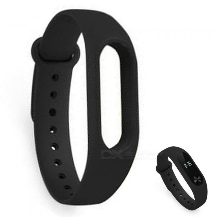 Xiaomi Miband 2 Original Strap Wristband - BlackWearable Device Accessories<br>Form  ColorBlackModelxmwd01hmQuantity1 DX.PCM.Model.AttributeModel.UnitMaterialTPEPacking List1 x Wristband1 x Card introduction<br>