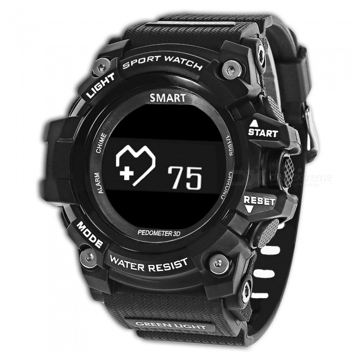 ZEBLAZE MUSCLE HR Bluetooth 5ATM Vattentät Smart Watch - Svart