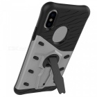 Adeline TPU Stoßstange PC Cover Kickstand Case für Apple IPHONE X