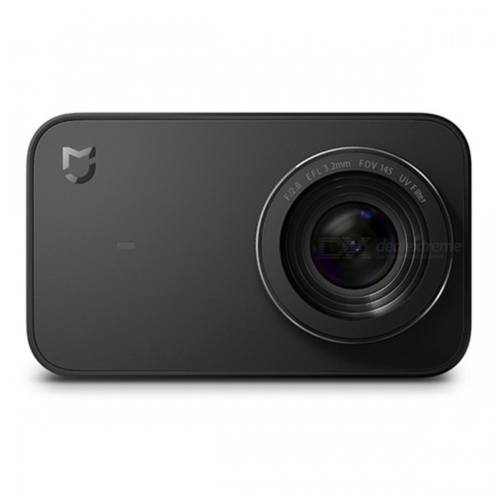 Xiaomi Mijia 2.4 Mini Compact Portable Small Camera - BlackSport Cameras<br>Form  ColorBlackModelYDXJ01FMShade Of ColorBlackMaterialPCQuantity1 setImage SensorOthers,Sony IMX 317Anti-ShakeYesFocal Distance3.2 mm cmFocusing Range3.2 mmApertureF2.8Aperture RangeF2.8Wide Angle145Effective Pixels3840 ? 2160ImagesJPEG,JPGStill Image Resolution3840 ? 2160VideoMP4,Others,RAWVideo Resolution3840 ? 2160p30Video Frame Rate30Audio SystemOthersCycle RecordYesISOOthers,0Exposure CompensationOthers,0Supports Card TypeTFSupports Max. Capacity64 GBBuilt-in Memory / RAMNoLCD ScreenYesScreen TypeOthersScreen Size2.4 inchBattery Measured Capacity 1450 mAhNominal Capacity1450 mAhBattery included or notNoWater ResistantNOPacking List1 x Camera1 x Battery1 x Data line1 x Manual (Simplified Chinese)<br>