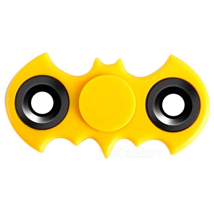 KICCY Bat Shape Hand Finger Spinner Fidget Anti-stress Toy -  YellowFinger Toys<br>Form  ColorYellowModelN/AMaterialABSQuantity1 DX.PCM.Model.AttributeModel.UnitSuitable Age 8-11 years,12-15 years,Grown upsPacking List1 x Fidget spinner<br>