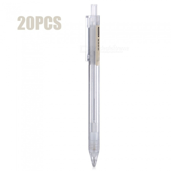 01720 Mechanical Pencil Retractable Pen 0.7mm (20 PCS)Pencil<br>Form  ColorWhiteModel01720MaterialABSQuantity20 piecesRefill ColorWhitePacking List20 x 01720 Mechanical Pencils<br>